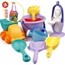 軟膠沙灘玩具套裝兒童洗澡玩具小孩戲水挖沙子寶寶鏟子沙漏工具jy