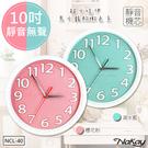 【NAKAY】10吋超靜音粉彩掛鐘/時鐘(NCL-40)馬卡龍元素