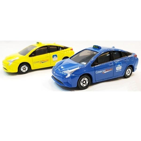 TOMICA 新加坡TAXI計程車 黃+藍亞洲限定兩台一組TM11288+TM97458多美小汽車