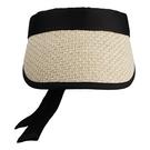 【ISW】滿印蝴蝶結空頂帽- 米白 (兩色可選) 網球帽
