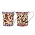 英國骨瓷小馬克杯-英式百花系列 (共兩款花色可選)
