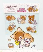 【震撼精品百貨】Rilakkuma San-X 拉拉熊懶懶熊~貼紙-假扮貓咪#19926