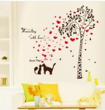 預購-裝飾牆貼 小貓樹