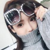太陽鏡 方框墨鏡 個性大框顯瘦眼鏡【非凡上品】z346