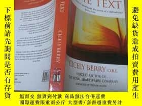 二手書博民逛書店The罕見Actor and the TextY10206 Be