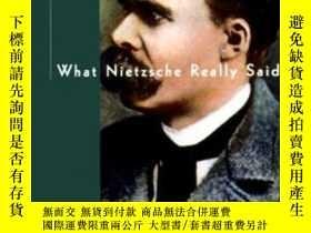 二手書博民逛書店What罕見Nietzsche Really Said (what They Really Said Series
