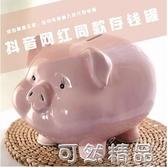 陶瓷小豬存錢罐兒童不可取網紅創意儲蓄罐女生可愛簡約現代大容量 雙12全館免運