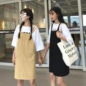 春裝女裝2019新款韓版減齡學生寬鬆顯瘦吊帶裙牛仔吊帶洋裝短裙 Cocoa