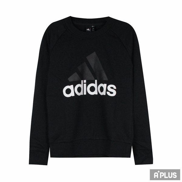 Adidas 女 ESS LIN SWEAT 愛迪達 圓領T(長)- S97079