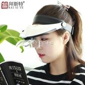 顯微頭戴式放大鏡LED帶燈老人閱讀兒童學生學習高 多色小屋
