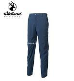 丹大戶外用品 荒野【Wildland】男彈性防潑防風天鵝絨長褲 型號 0A62322-49 深灰藍