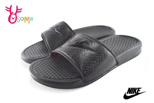 NIKE BENASSI JDI 拖鞋 防水輕量運動拖鞋 全尺碼O7103#黑色◆OSOME奧森童鞋