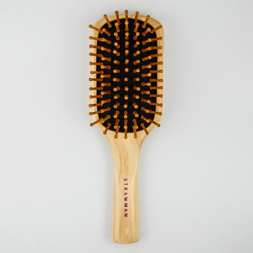 STRAW MAN 竹針梳(M545) 1入 美髮梳 氣墊梳 梳子 STM【BG Shop】