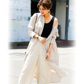 東京著衣-FashionLetter-多色摺領長版開岔襯衫外套-M.L(6190007)