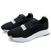 《7+1童鞋》大童 PUMA Wired Jr 鞋帶 輕量 透氣 運動鞋 8295 黑色