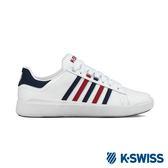 K-Swiss Pershing Court Light休閒運動鞋-男-白/藍/紅