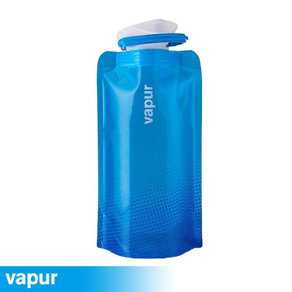 美國Vapur Shades 運動摺疊水袋 0.5L 藍10195
