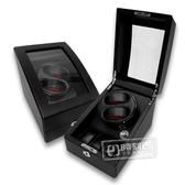 機械錶自動上鍊盒1旋2入錶座轉動+3入收藏 高質感碳纖維 - 黑色