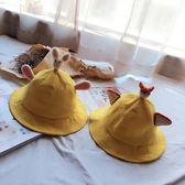 日系軟妹漁夫帽女夏 韓版女學生文藝情侶小清新帽子兔子耳朵盆帽