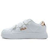FILA Court Deluxe 女 白 金 魔鬼氈 板鞋 增高 運動休閒鞋 復古 韓國流行款 小白鞋 5-C601S-800