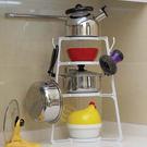 ♚MY COLOR♚帶掛勾鍋架置物架 收納 廚房 多層 疊加 通風 瀝乾 組合 摺疊 多功能 pantree【W49】