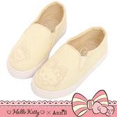 HELLO KITTY X Ann'S親子系列花園牛仔布懶人鞋童鞋-米白