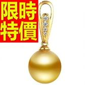 珍珠項鍊 單顆10-11mm-生日七夕情人節禮物細緻風靡女性飾品53pe30[巴黎精品]