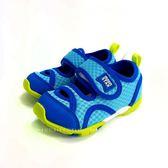 小童 日本月星MOONSTAR 魔鬼氈 透氣運動鞋學步鞋 《7+1童鞋》B455 藍色