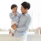 韓版粉嫩格紋長袖上衣親子裝(男童)
