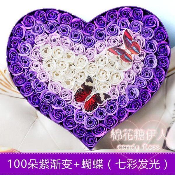 創意個性浪漫520玫瑰花熊香皂花束LVV2644【棉花糖伊人】