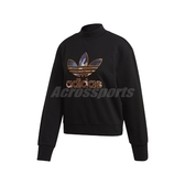 adidas 長袖T恤 CNY Sweater 黑 彩色 女款 大學T 運動休閒 【ACS】 FU1759
