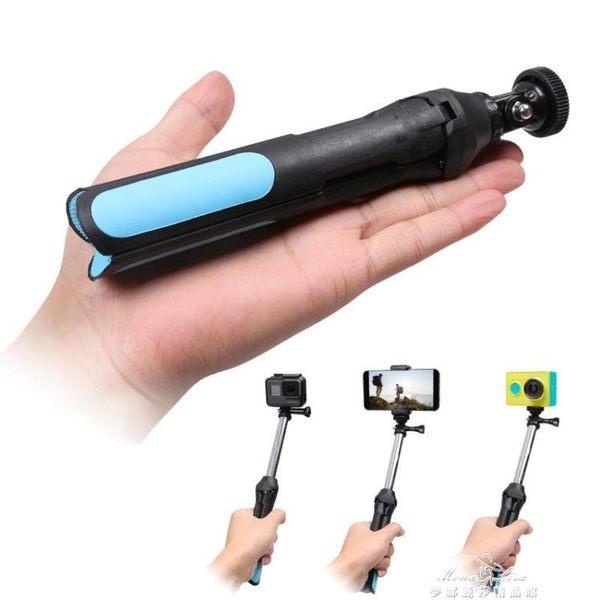 運動相機手機自拍桿三腳架配件For Gopro6/5小蟻4K遙控器帶自拍桿 全館免運