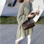 *初心*純色 寬鬆 純色 鬆高領 套頭 毛衣 針織 長版針織裙 C6442