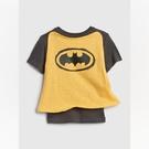 Gap男幼DC英雄系列披風圓領短袖T恤545391-溫和黑色