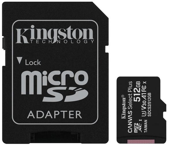 【免運】KINGSTON 512GB 512G microSDXC【100MB/s-P】microSD micro SD UHS U3 TF C10 Class10 SDCS2/512GB 金士頓 記憶卡