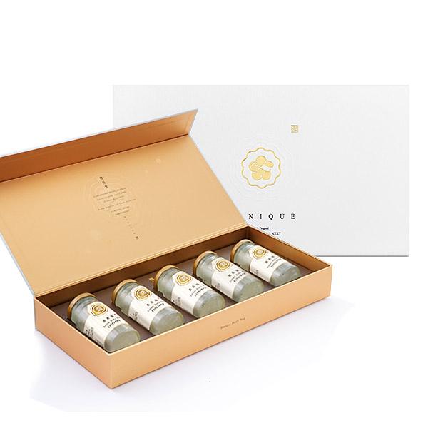 【潤燕窩】黃金特潤冰糖燕窩禮盒(140ml x5瓶) 冰糖燕窩 送禮推薦