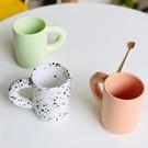 馬克杯 繪市集 復韓式ins簡約手捏紋手柄胖子馬克杯陶瓷咖啡杯網紅水杯 晶彩