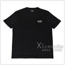 EMPORIO ARMANI EA7白字LOGO純棉短袖T恤(S/M/L/XL/黑)