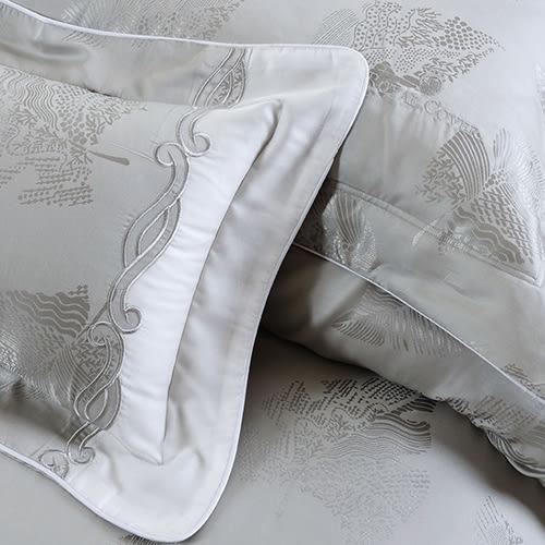 床罩組/雙人-5x6.2尺-中式全套-天絲-獨家花色-灰色-[北極光]-59189-(好傢在)