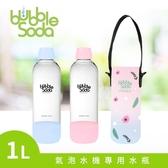 法國BubbleSoda 全自動氣泡水機專用1L水瓶-粉藍 (附專用外出保冷袋)