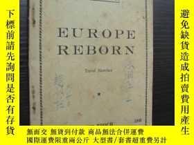 二手書博民逛書店民國書罕見EUROPE REBORN:Travel Sketch