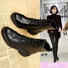 新款馬丁靴女英倫風春秋百搭單靴機車短靴冬季加絨網紅瘦瘦靴 裝飾界