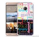 ✿ 3C膜露露 ✿【文字*立體浮雕硬殼】HTC ONE ME手機殼 手機套 保護套 保護殼