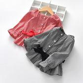 女童襯衫秋季長袖韓版洋氣襯衣格子秋季上著純棉【奈良優品】