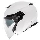 【東門城】LUBRO CRUISE TECH 素色(白)半罩式安全帽 雙鏡片