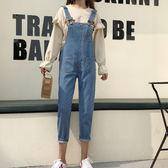 【新年鉅惠】2019秋裝韓版個性背帶褲女寬鬆休閒牛仔褲