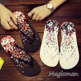 涼鞋 平底防滑夾腳沙灘鞋(QJ0240)★Magicman★預購