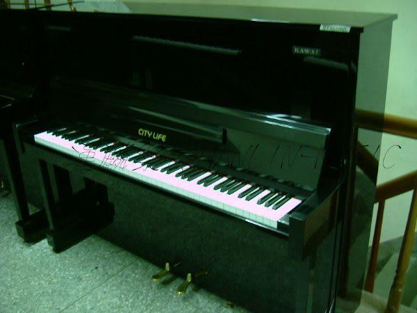 【HLIN漢麟樂器】-日本原裝kawai河合123號直立式中古二手鋼琴-原木-亮黑-豪華24