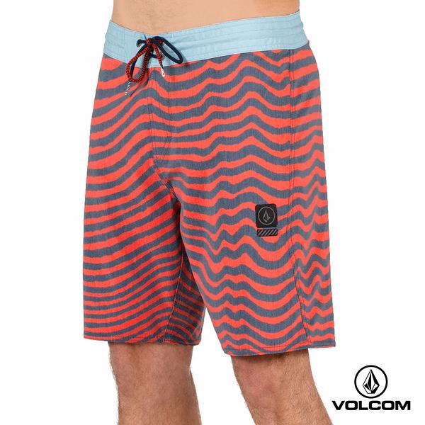 VOLCOM MAG VIBES STONEY 海灘褲-橘x藍