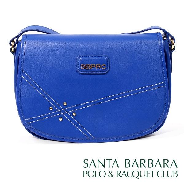 【南紡購物中心】SANTA BARBARA POLO & RACQUET CLUB - 南十字星馬鞍包(寶藍色)